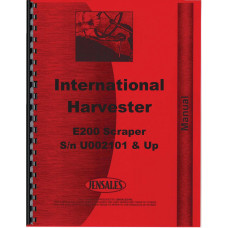 International Harvester E200 Elevating Pay Scraper Parts Manual (SN# U002101 & up)