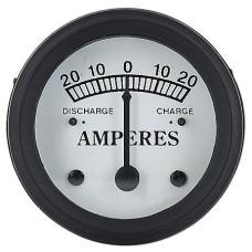 John Deere Ammeter (20-0-20) White Face (NJD408)
