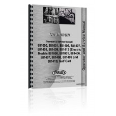Cushman 881000, 881001, 881406, 881407, 881408, 881409, 881413 Golf Cart Service & Operators Manual