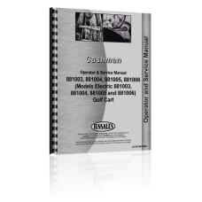 Cushman 881003, 881004, 881005, 881006 Golf Cart Service & Operators Manual (881003)