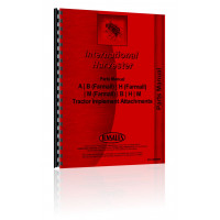 Farmall H Tractor Implement Attachments Parts Manual