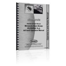 Minnesota Grain Binder 8A, left hand Operators Manual