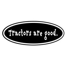Tractors Are Good logo in black