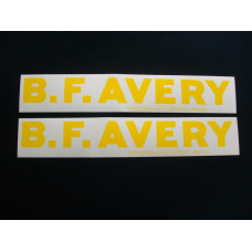 Minneapolis Moline B.F.Avery (set of 2) red tractor Mylar Decal Set
