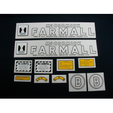 International Harvester B Mylar Cut Decal Set (I128)