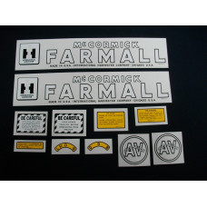 International Harvester AV Cultivision Mylar Cut Decal Set (I137)