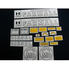 International Harvester Super MD Mylar Cut Decal Set (I151)