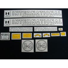 International Harvester I-4 Mylar Cut Decal Set (I164)