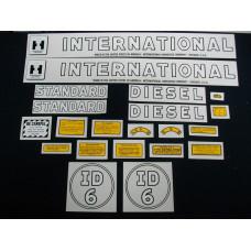 International Harvester ID-6 Mylar Cut Decal Set (I165)