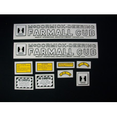 International Harvester McCormick-Deering Cub Mylar Cut Decal Set (I196)