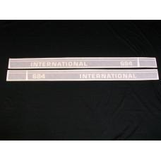 Farmall 684 Int'l Utility 50 ½ inch black (hoods) Vinyl Cut Decal Set (VI261)