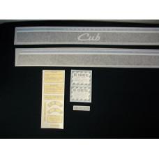 Farmall The New International Cub 41 inch (blu/blk/chr) Vinyl Cut Decal Set (VI262)