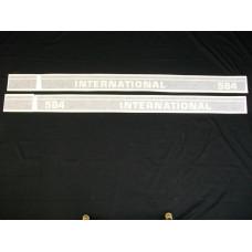 Farmall 584 Int'l Utility 50 ½ inch black (hoods) Vinyl Cut Decal Set (VI269A)