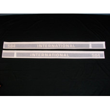 Farmall 584 Int'l Utility 50 ½ inch black/red (hoods) Vinyl Cut Decal Set (VI269)