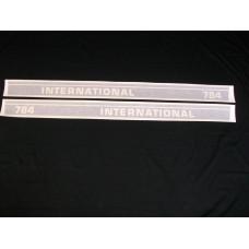 Farmall 784 Int'l Utility 53 ½ inch black (hoods) Vinyl Cut Decal Set (VI296A)