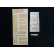 Farmall 560, 660 diesel Vinyl Cut Decal Set (VI454)